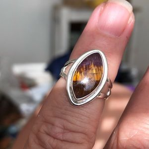 Cacoxenite Super7 Sterling Silver Ring Sz 5